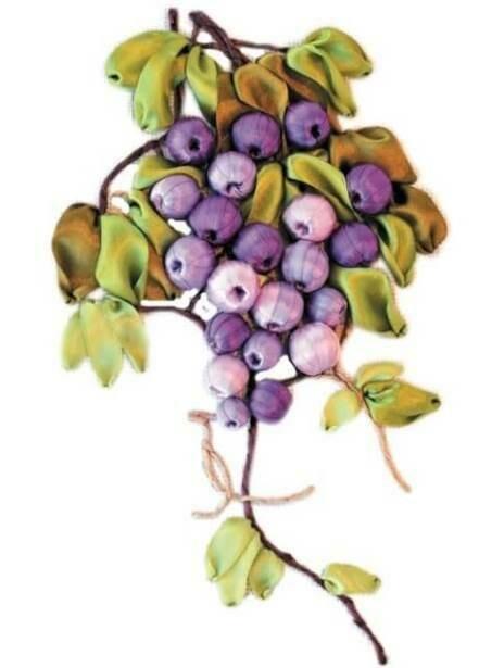 Набор для вышивки лентами (ТМ Цветной) VL018 Виноградная лоза