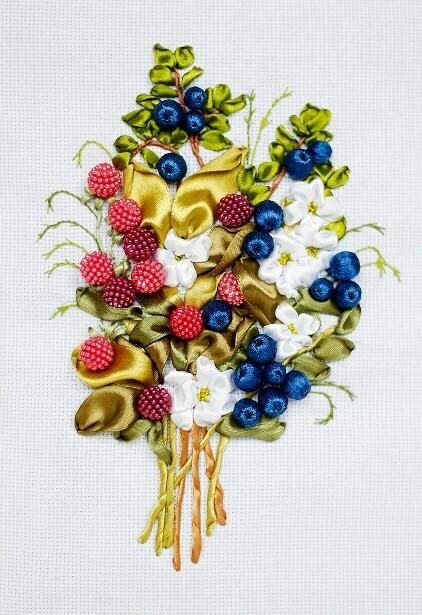 Набор для вышивки лентами (ТМ Цветной) VL019 Ягодный букет