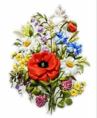 Набор для вышивания лентами (ТМ Цветной) VL006 Полевые цветы