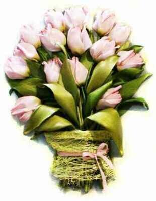 Набор для вышивания лентами (ТМ Цветной) VL003 Тюльпаны