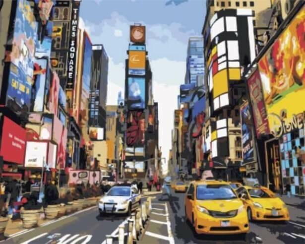 Картина по номерам (40х50см) Цветной GX5377 Шум большого города
