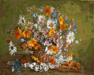 Картина по номерам (40х50см) Цветной GX7924 Праздник цветов