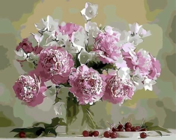Картина по номерам (40х50см) Цветной GX8744 Натюрморт в розовых тонах