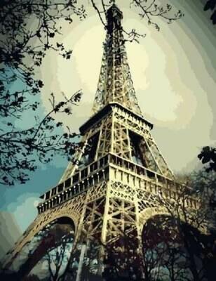 Картина по номерам (40х50см) Цветной GX3509 Эйфелева башня