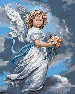 Картина по номерам (40х50см) Цветной GX3232 Небесный ангел