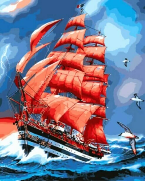 Картина по номерам (40х50см) Цветной GX8794 Парусник Америго Веспуччи