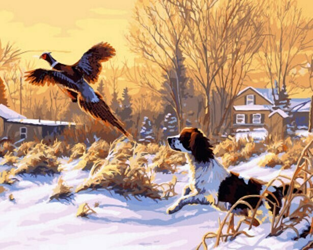 Картина по номерам (40х50см) Цветной GX8197 Охотник