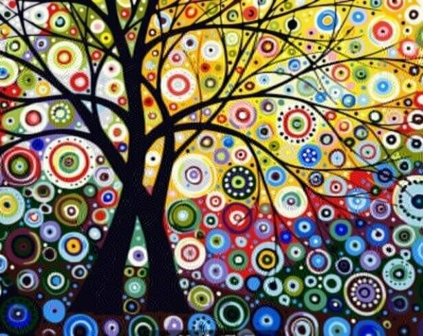 Картина по номерам (40х50см) Цветной GX6962 Райский сад