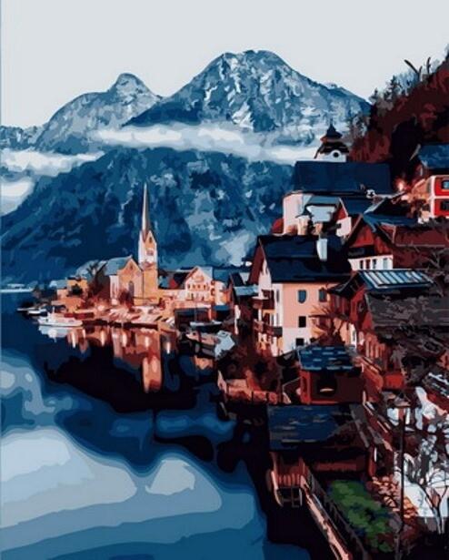 Картина по номерам (40х50см) Цветной GX31191 Городок в горах