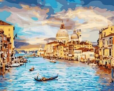 Картина по номерам (40х50см) Цветной GX22296 Очарование Венеции