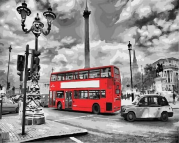 Картина по номерам (40х50см) Цветной GX8246 Лондонский автобус