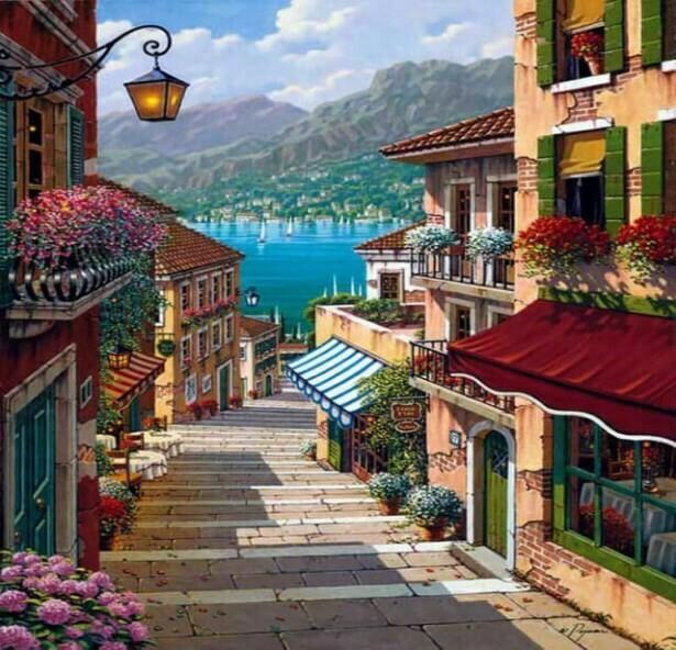 Картина по номерам (40х50см) Цветной MG1100 Средиземноморье