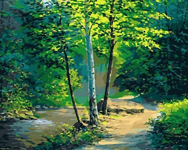 Картина по номерам (40х50см) Цветной MG2170 Чистая природа