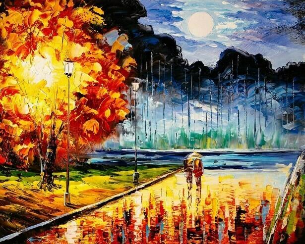 Картина по номерам (40х50см) Цветной MG2165 Осенний блюз