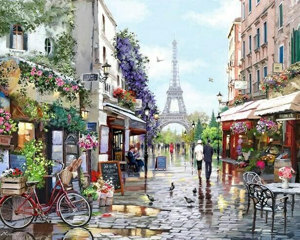Картина по номерам (40х50см) Цветной MG2206 Париж весной