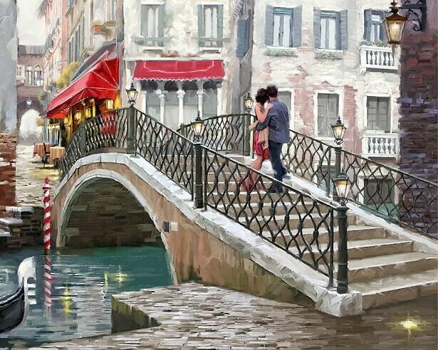 Картина по номерам (40х50см) Цветной MG2205 Городской мост