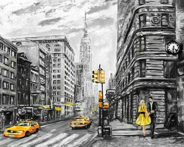 Картина по номерам (40х50см) Цветной MG2168 Столичная улица