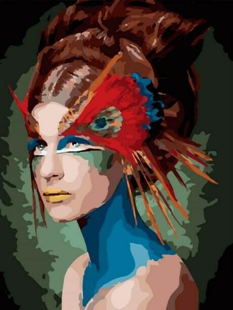 Картина по номерам (40х50см) Цветной MG2149 Маскарад