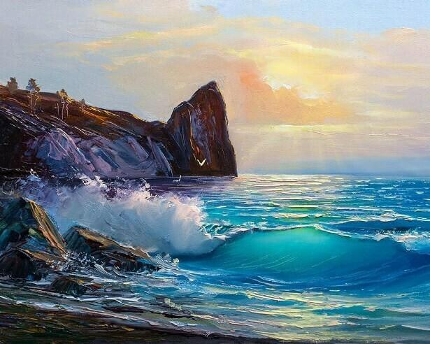 Картина по номерам (40х50см) Цветной MG2169 Береговые ландшафты