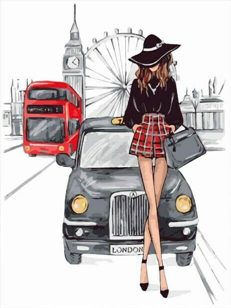 Картина по номерам (40х50см) Цветной MG2147 Встреча в Лондоне