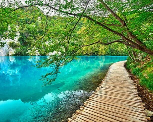 Картина по номерам (40х50см) Цветной MG2150 Лазурное озеро