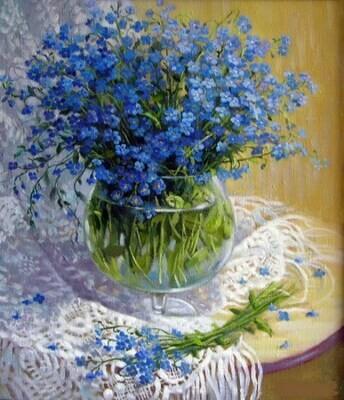Картина по номерам (40х50см) Цветной MG1069 Полевые цветы