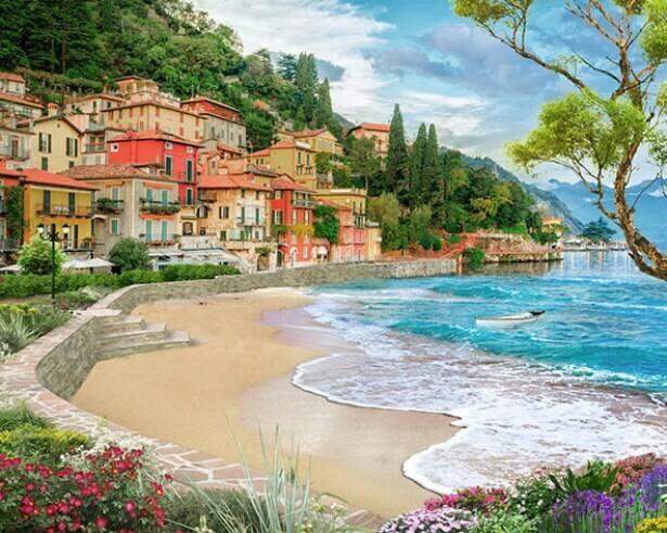 Картина по номерам (40х50см) Цветной MG2417 Город у моря