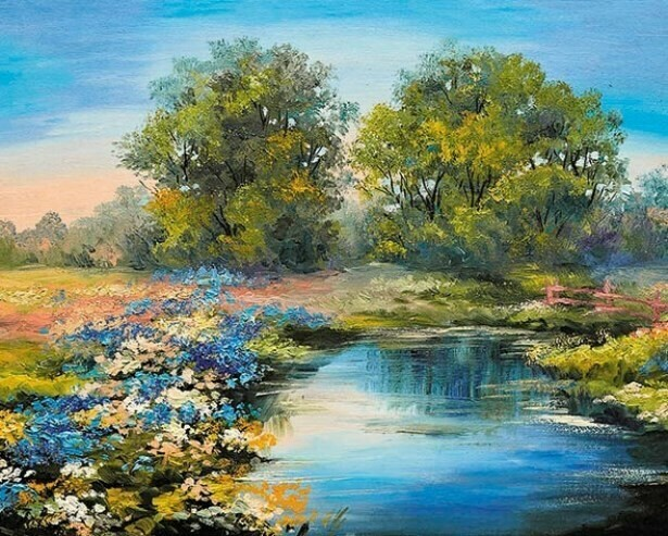 Картина по номерам (40х50см) Цветной MG2415 Летняя река