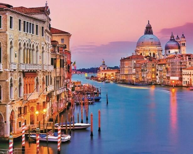 Картина по номерам (40х50см) Цветной MG2409 Вид с моста Венеции
