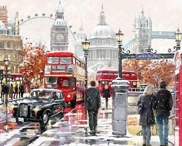 Картина по номерам (40х50см) Цветной MG2204 Прогулка по Лондону