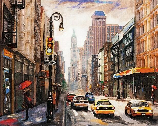 Картина по номерам (40х50см) Цветной MG2407 Тихая улица