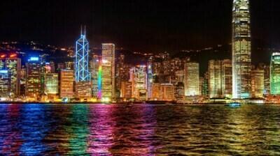 Картина по номерам (40х50см) Цветной MG1108 Ночной Гонконг