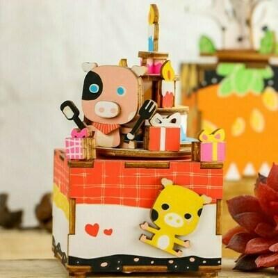 Деревянный 3D конструктор Robotime AM309R Любящие сладкоежки