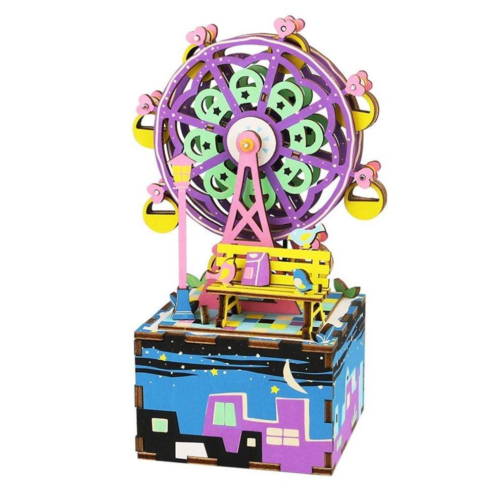 Деревянный 3D конструктор Robotime AM402 Музыкальная шкатулка Колесо обозрения