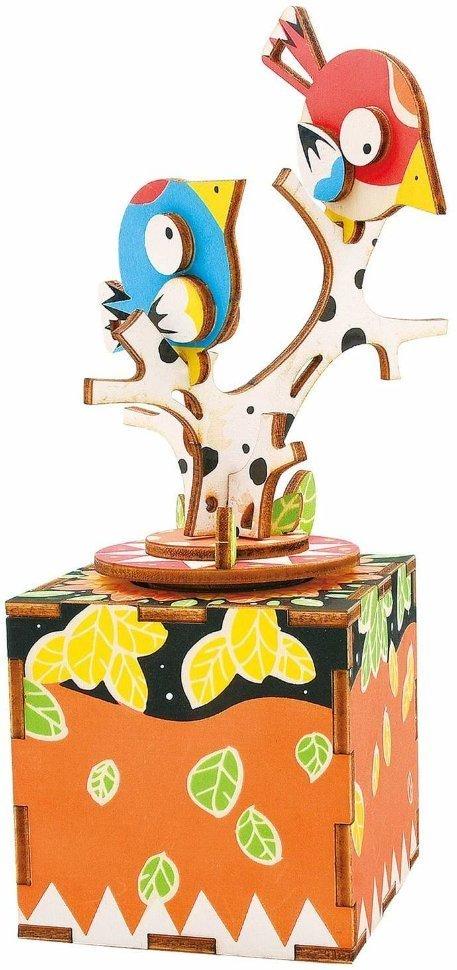 Деревянный 3D конструктор Robotime AM301 Музыкальная шкатулка Песня птицы и дерева