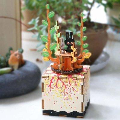 Деревянный 3D конструктор Robotime AM302R Музыкальная шкатулка Весна
