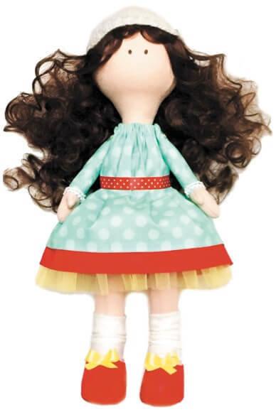 Набор ТМ Цветной для изготовления текстильной игрушки DI044 Принцесса Космея (35 см)