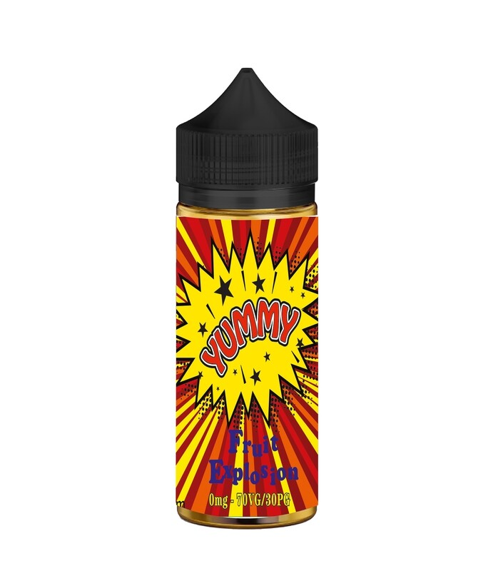 FRUIT EXPLOSION  - YUMMY   80ml in flacone da 100ml