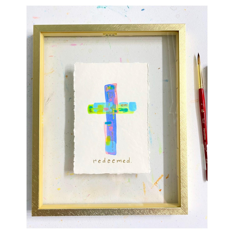 Color Block Cross