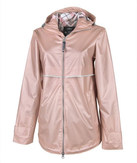 Rose Gold Women's New Englander Rain Jacket