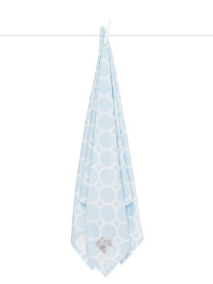 Airie Promenade Blue Swaddle Blanket