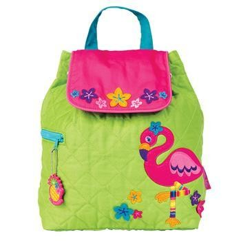 Flamingo Quilted Backpack