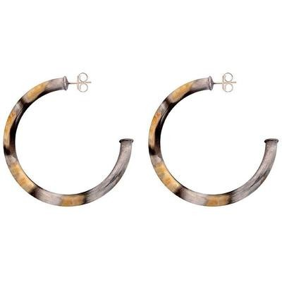 Burnished Silver Arlene Hoops