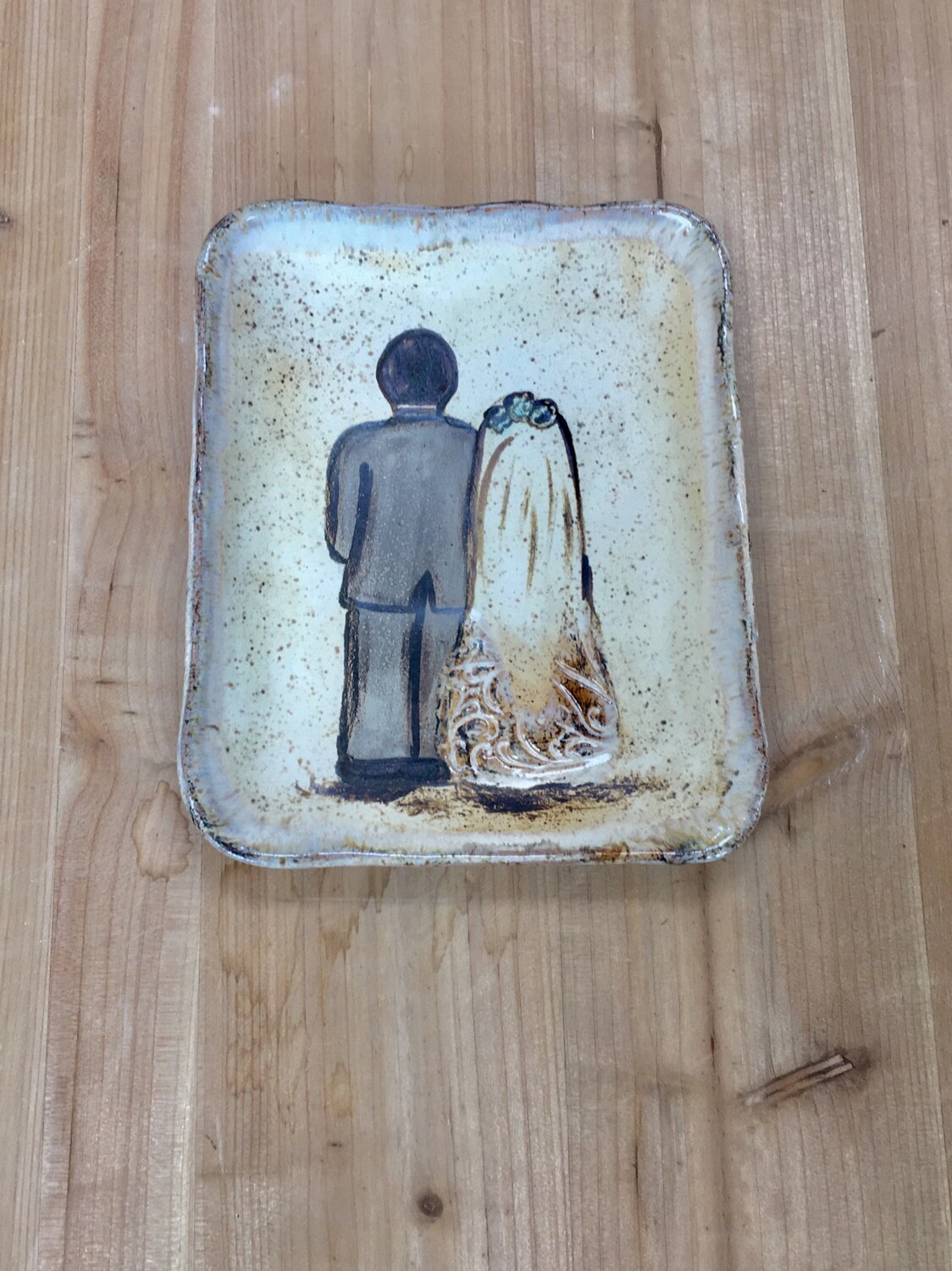 Just Married Square Plate