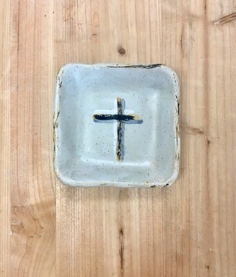 Blue Cross Small Square Dish