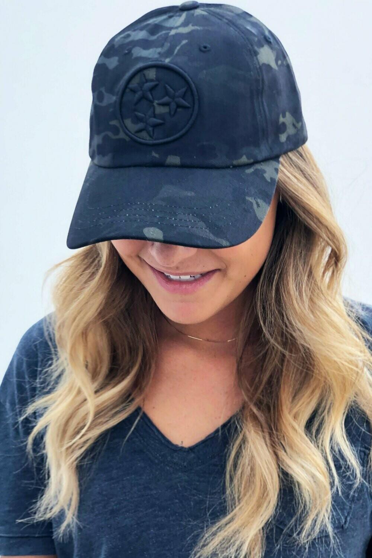 Tri-Star Multi Camo Black Hat