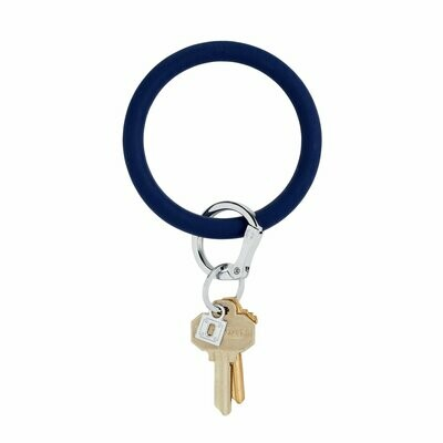 Navy Silicone Key Ring