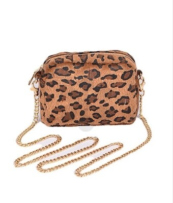 Small Leopard Crossbody-Brown