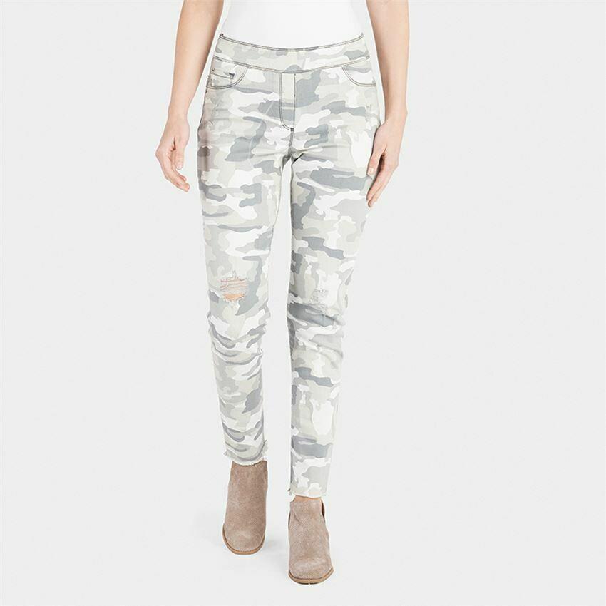 Light Camo Distresed Skinny Jean