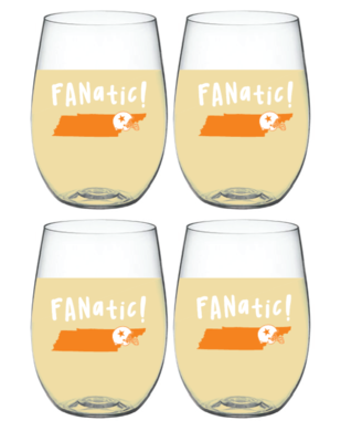 Tennessee Fanatic Wine-Oh Goblet